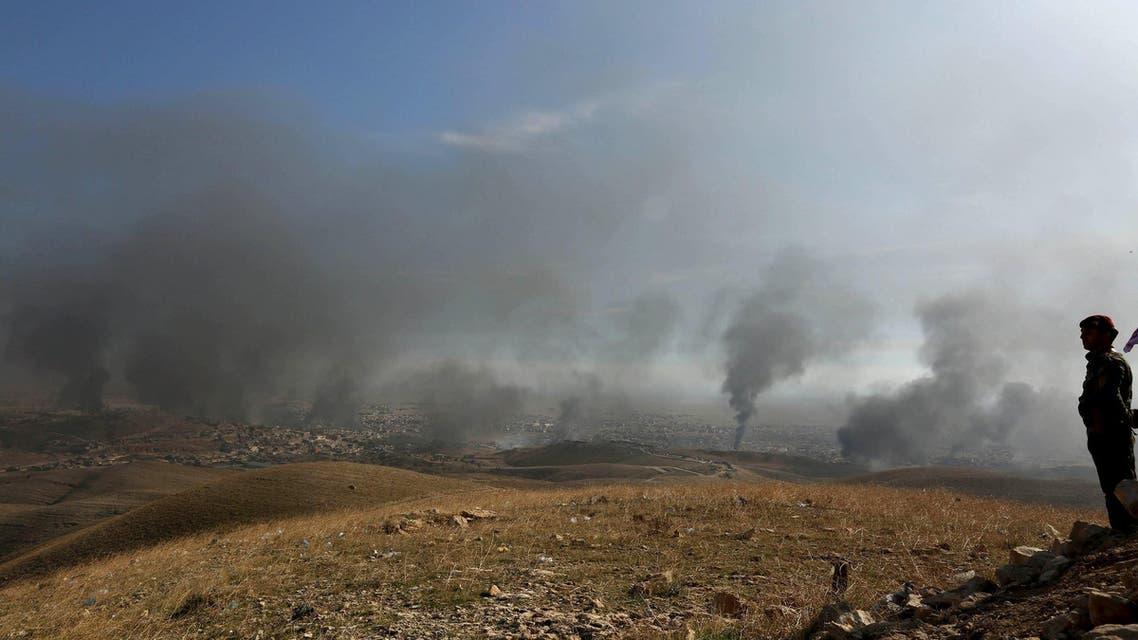 Smoke rises from the site of U.S.-led air strikes in the town of Sinjar, Iraq November 12, 2015. (File photo: Reuters)