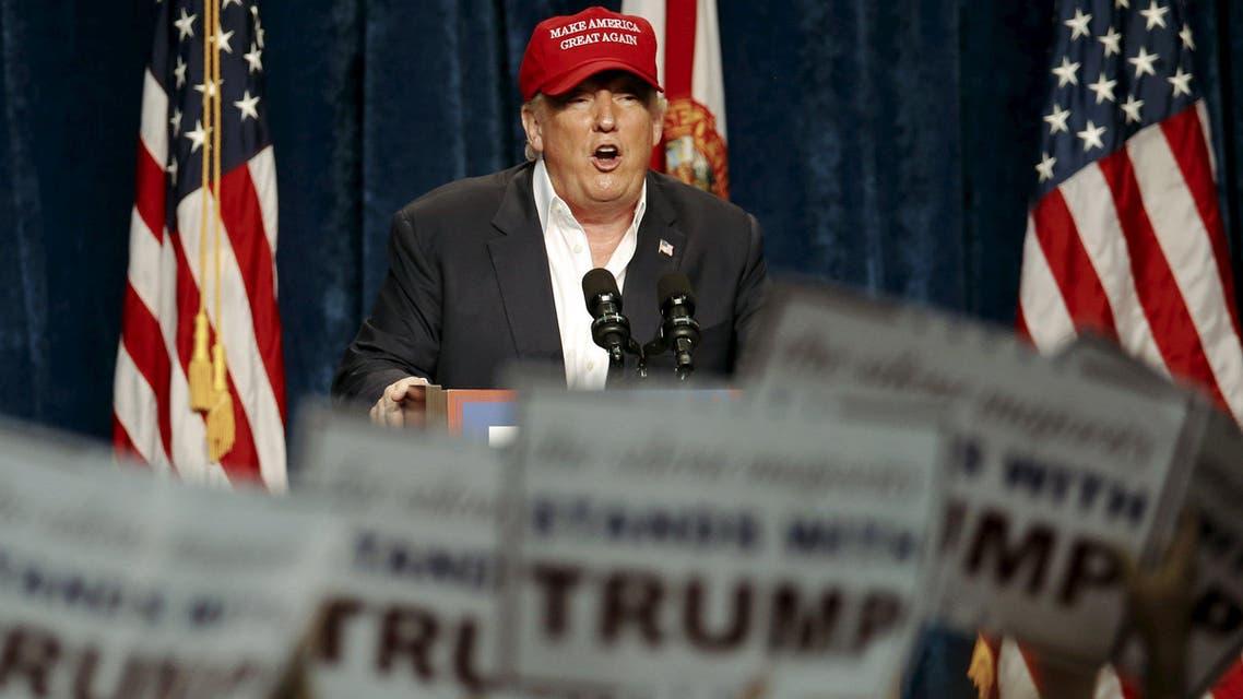 U.S. Republican presidential candidate Donald Trump speaks at a rally in Sarasota, Florida November 28, 2015. (Reuters)