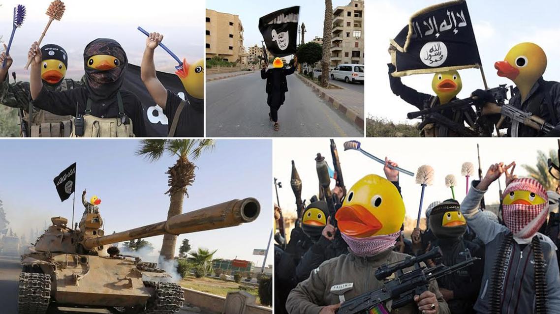 عناصر داعش بطات صفراء