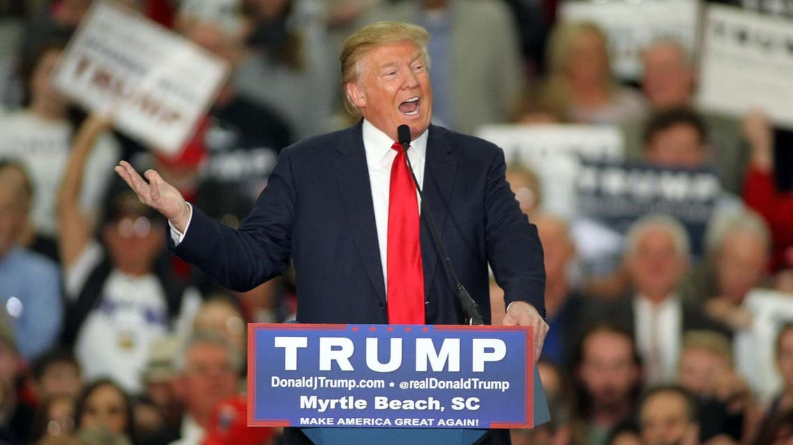 Republican presidential candidate Donald Trump speaks during a campaign event at the Myrtle Beach Convention Center. (File photo: AP)