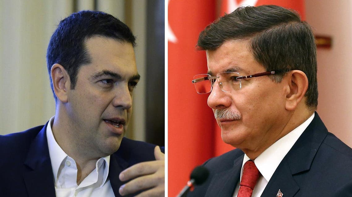 Alexis Tsipras posted to his counterpart Ahmet Davutoglu needling him about Turkey's downing of a Russian jet. (File photo: AP)