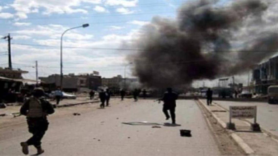 تفجير مواقع لداعش في الأنبار