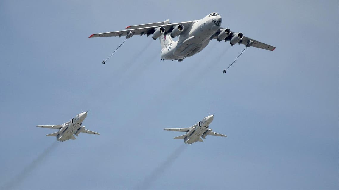 An Ilyushin Il-78 Midas air force tanker and Sukhoi Su-24 Fencer tactical bombers fly over the Red Square during the Victory Day parade in Moscow. (File photo: Reuters)