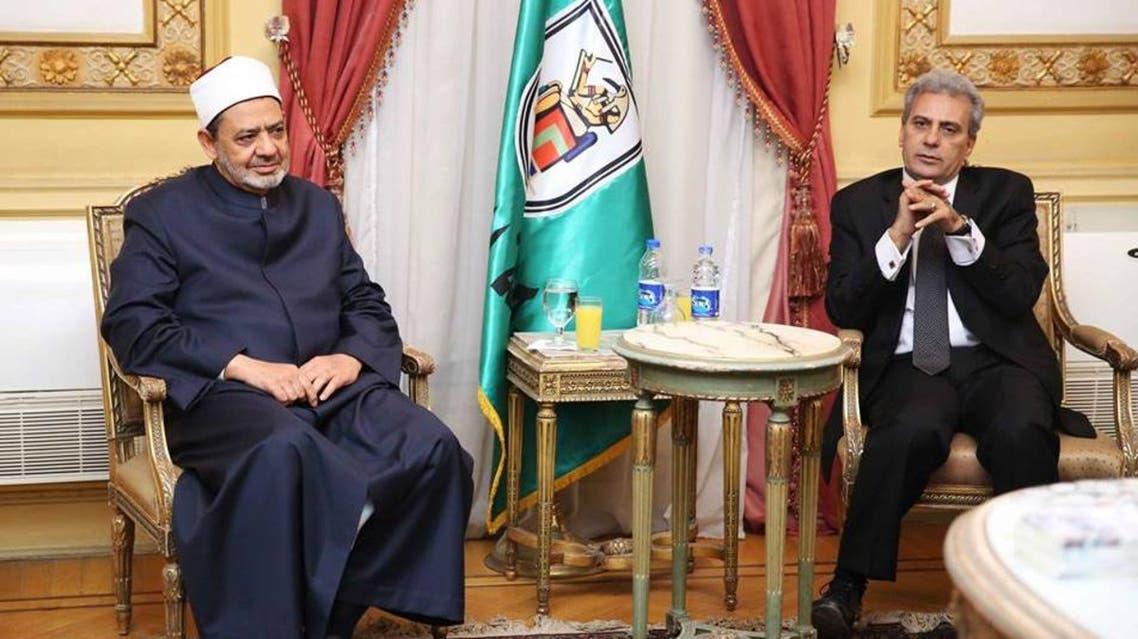 شيخ الأزهر مع رئيس جامعة القاهرة