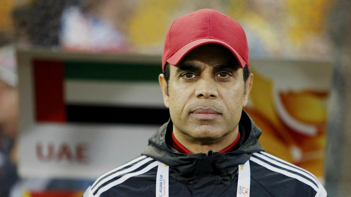 UAE's coach Mahdi Ali Hassan waits for the start of their Asian Cup semi-final soccer match against Australia at the Newcastle Stadium in Newcastle. (File photo: Reuters)