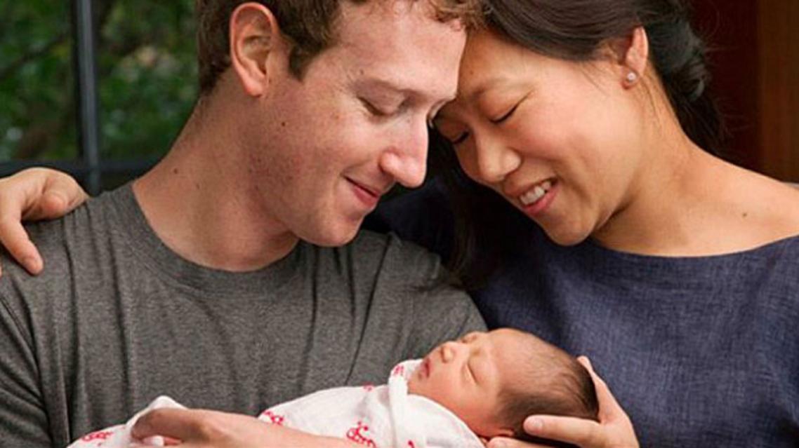 زوكيربرغ وزوجته الصينية الأصل بريسيلا، أصبحا أبوين بولادة أول طفلة