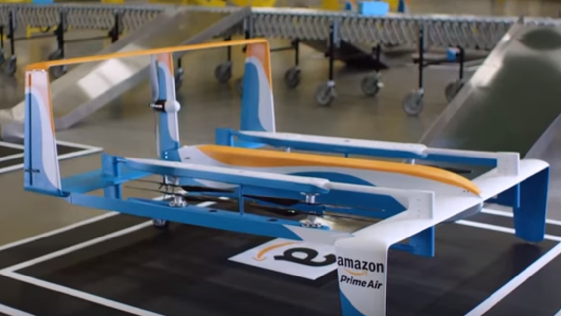 Amazon's new video shows what unmanned drones for package delivery would look like. (via Amazon)