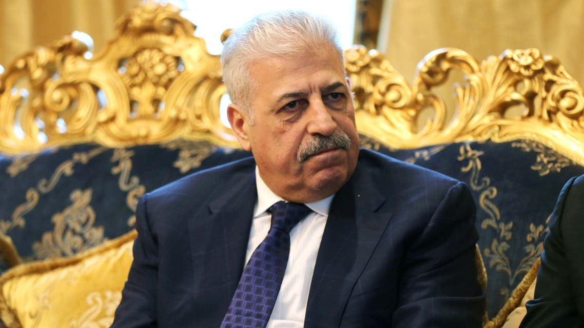 Atheel al-Nujaifi, former governor of Ninevah province, talks with the Associated Press during an interview at a private villa in Dubai, United Arab Emirates, Tuesday, Dec. 1, 2015. A group of prominent Iraqi exiles is making a renewed push to unify the country's disaffected Sunni Arab minority into a cohesive political coalition and say their support is vital in helping beat back the Islamic State group. (AP Photo/Kamran Jebreili)