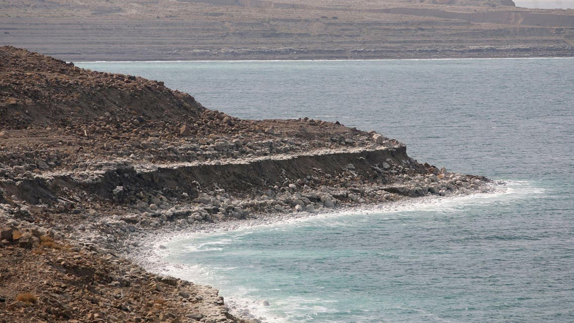 The shoreline of the Dead Sea near the town of Ghor Haditha in Jordan has been receding by 1 meter (3.3 feet) every year for the past 25 years. (File photo: AP)