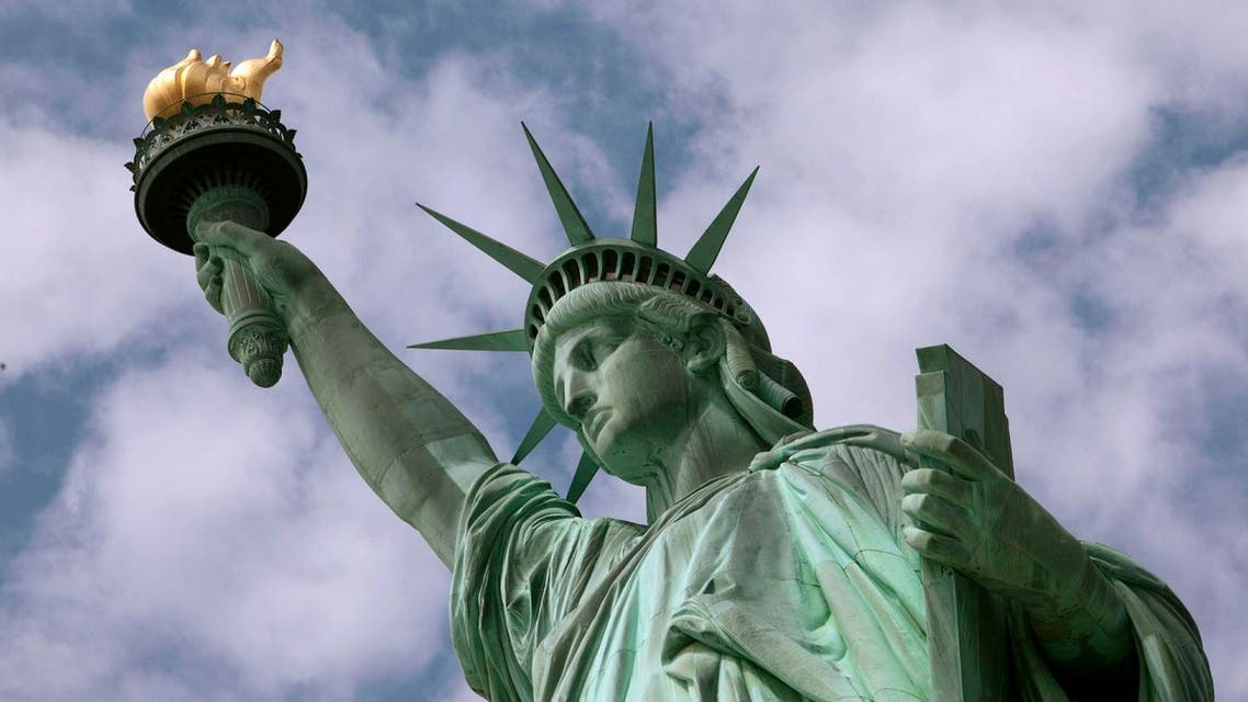 When the Egyptian government sought proposals to build a lighthouse for the Suez Canal, Bartholdi designed a statue of a robed woman holding a torch, which he then based the Statue of Liberty on. (File photo: AP)