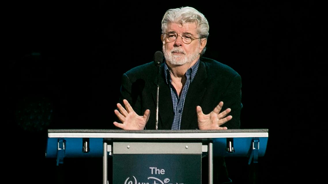 """""""Star Wars"""" creator, filmmaker George Lucas is honored with the Disney Legends Award. (File photo: AP)"""