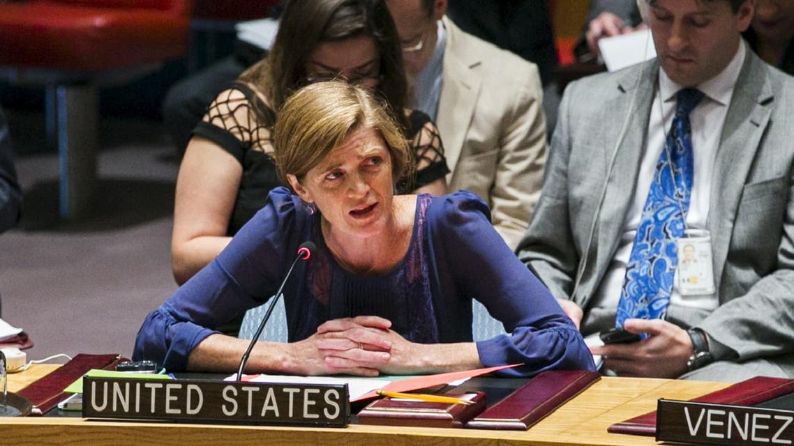 "U.S. Ambassador Samantha Power told reporters that the draft resolution ""will consolidate and streamline the council's recent efforts on ISIL financing"". (File photo: Reuters)"