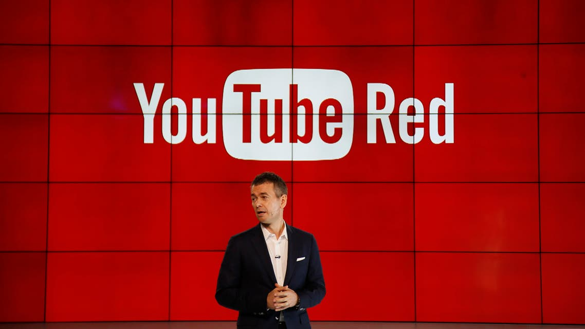 """Robert Kyncl, YouTube Chief Business Officer, speaks as YouTube unveils """"YouTube Red,"""" a new subscription service, at YouTube Space LA offices Wednesday, Oct. 21, 2015, in Los Angeles. (AP)"""