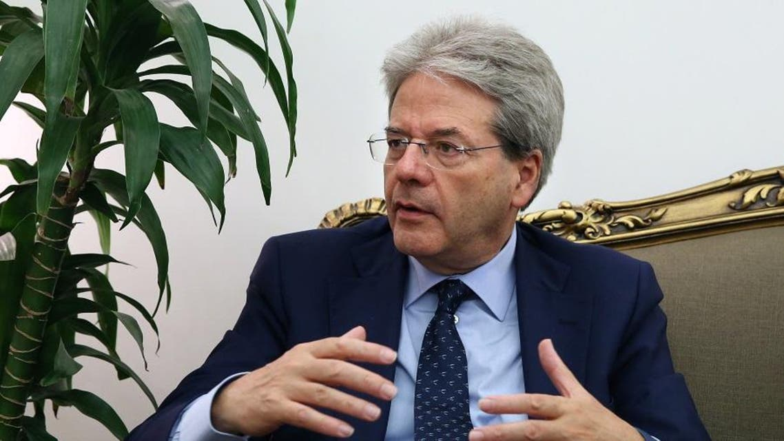 Italian Foreign Minister Paolo Gentiloni speaks during a press conference at the Lebanese foreign ministry in Beirut. (File photo: AP)
