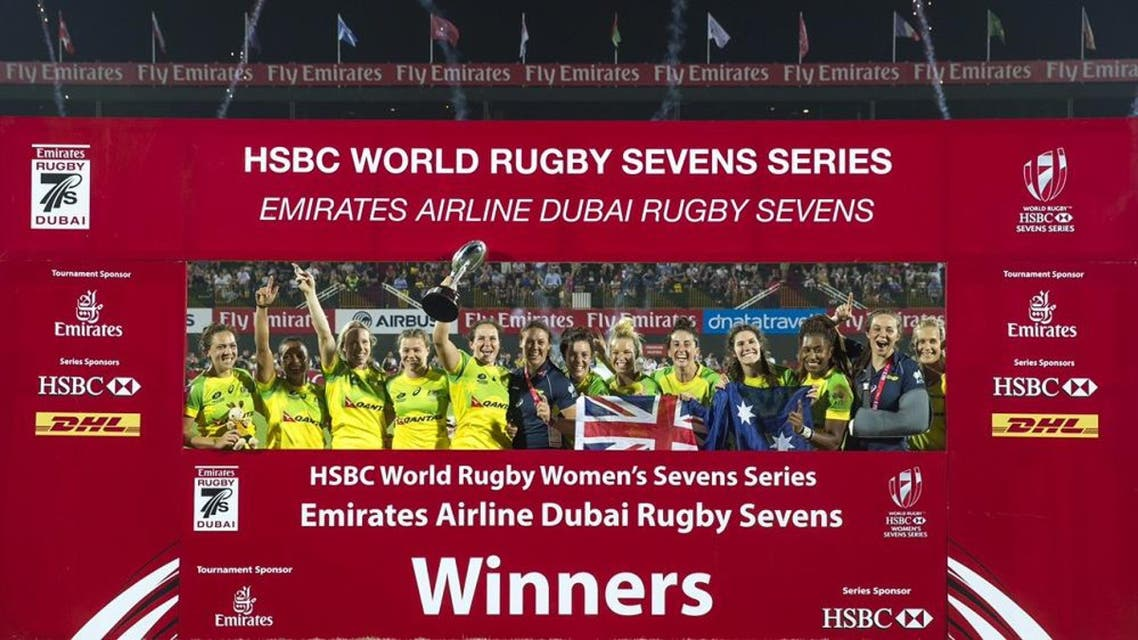 Australian rugby Sevens Women's team (Courtesy of Dubai Rugby Sevens)
