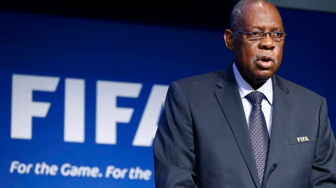 FIFA's acting president Issa Hayatou addresses a news conference after a meeting of the Executive Committee at FIFA's headquarters in Zurich, Switzerland December 3, 2015. | Reuters