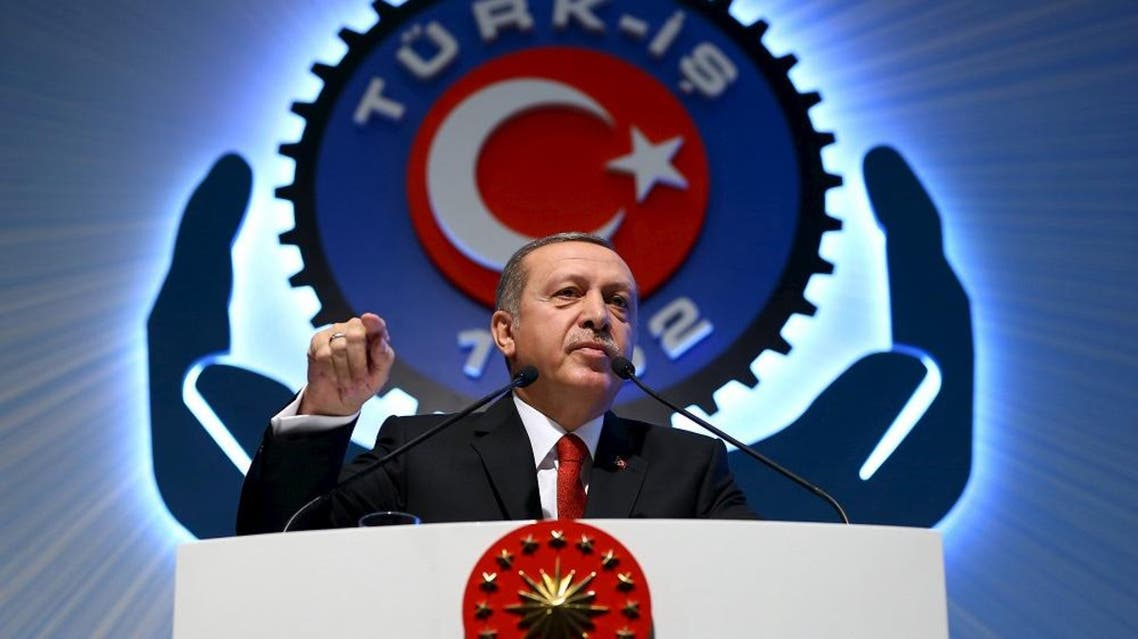 Turkey's President Tayyip Erdogan addresses the audience during a meeting in Ankara, Turkey, December 3, 2015 | Reuters