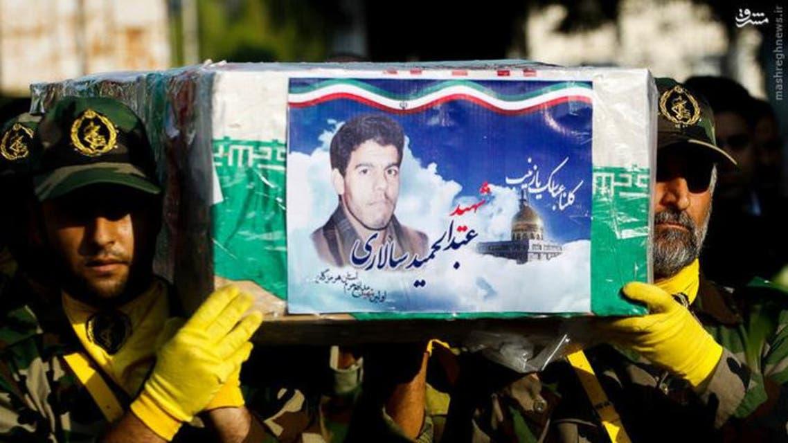 الحرس الثوري يشيع أحد ضباطه الذين قتلوا في سوريا