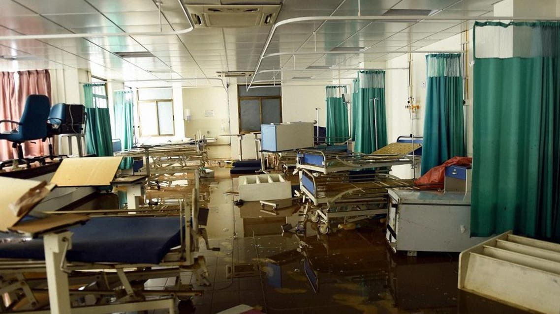 In this Friday, Dec. 4, 2015 photo, the Intensive Care Unit of a hospital is seen flooded and abandoned in Chennai, in the southern Indian state of Tamil Nadu   AP
