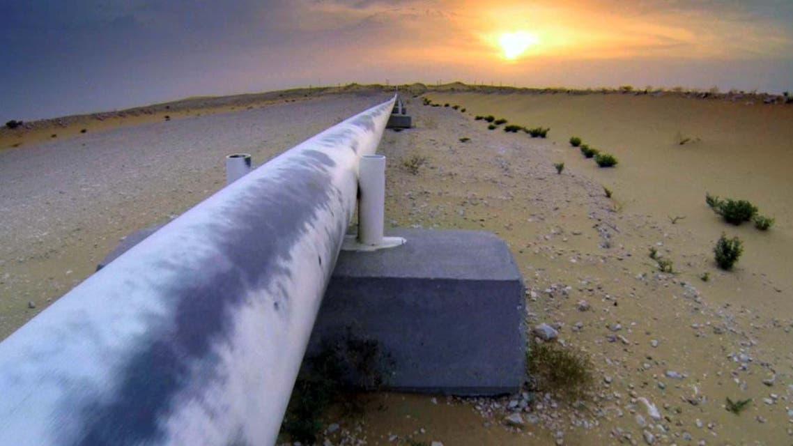 أنبوب لنقل الغاز المصري