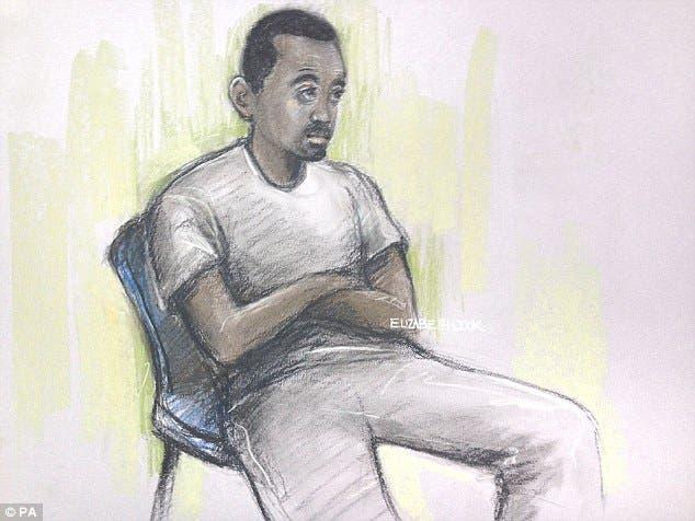 رسم للمتهم محي الدين مير خلال مثوله أمام المحكمة