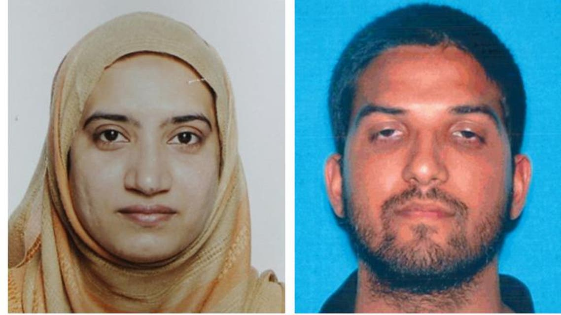 This undated combination of photos provided by the FBI, left, and the California Department of Motor Vehicles shows Tashfeen Malik, left, and Syed Farook.  (AP)