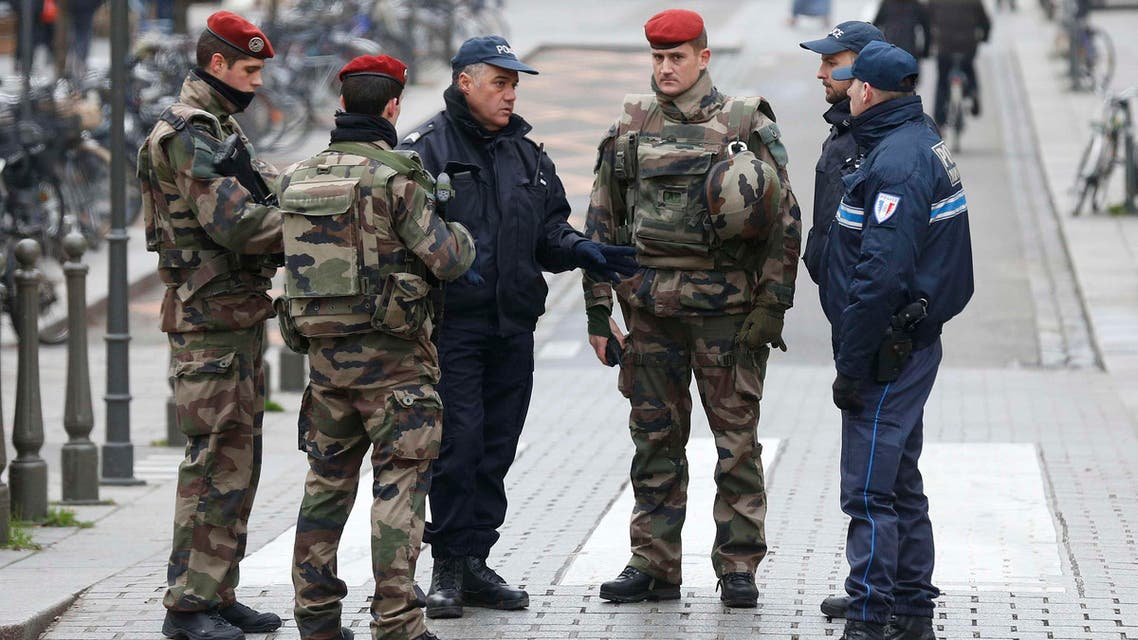 French police officers and soldiers patrol in Strasbourg, France, November 27, 2015 as the security measures in public places is reinforced after recent deadly attacks in Paris. (Reuters)