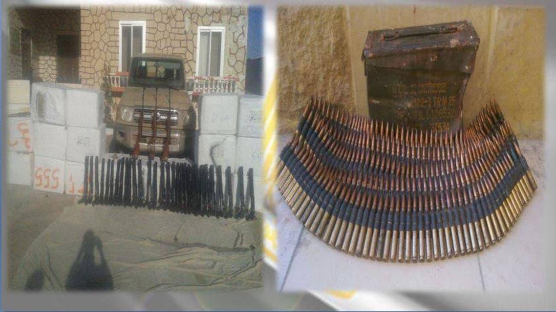 جانب من الأسلحة المضبوطة في مصر