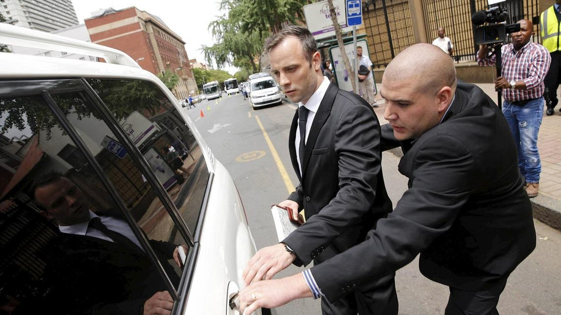 Oscar Pistorius leaves the North Gauteng High Court in Pretoria, South Africa after his bail hearing. (Reuters)