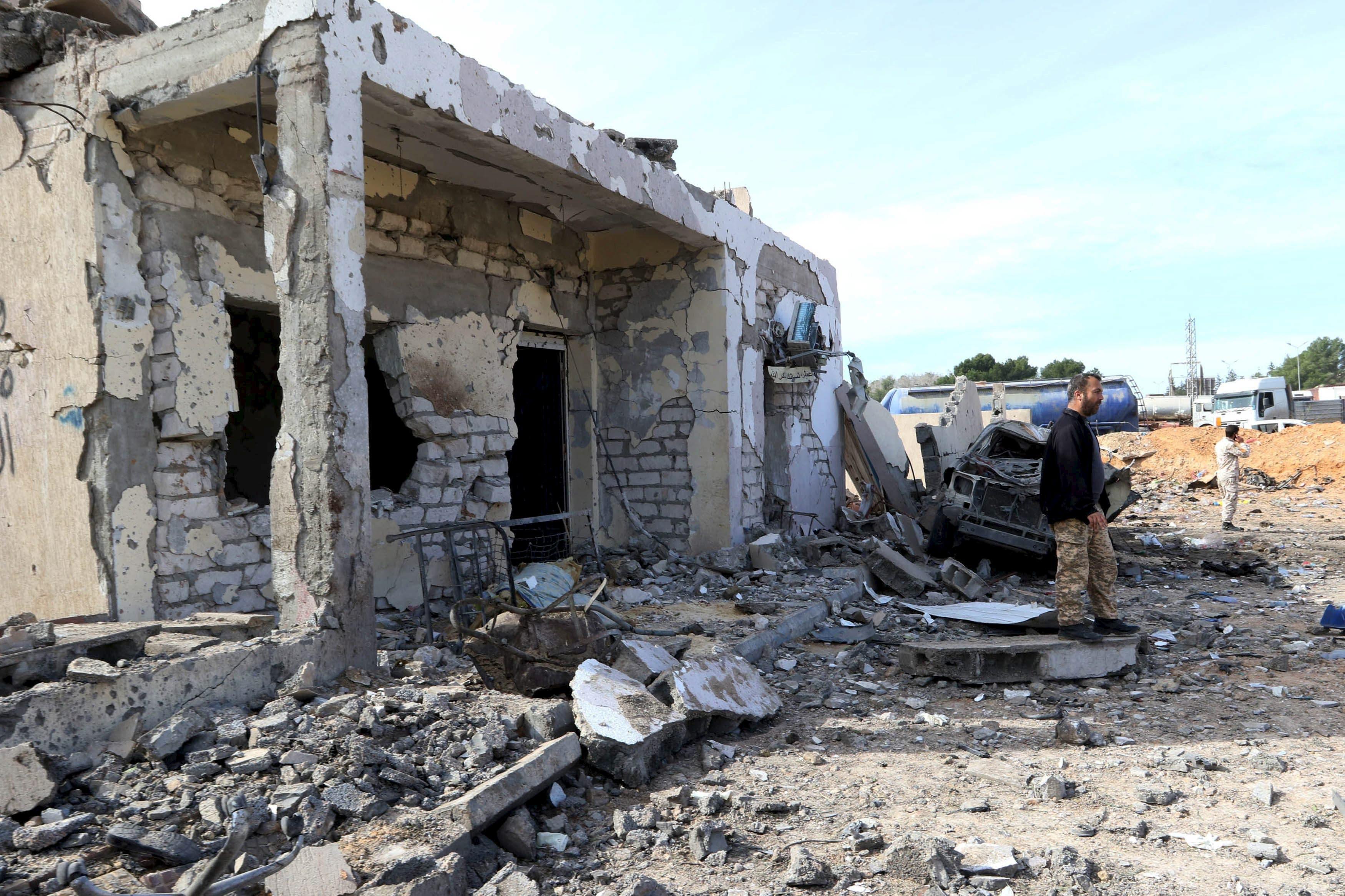 مشهد من الدمار في ليبيا