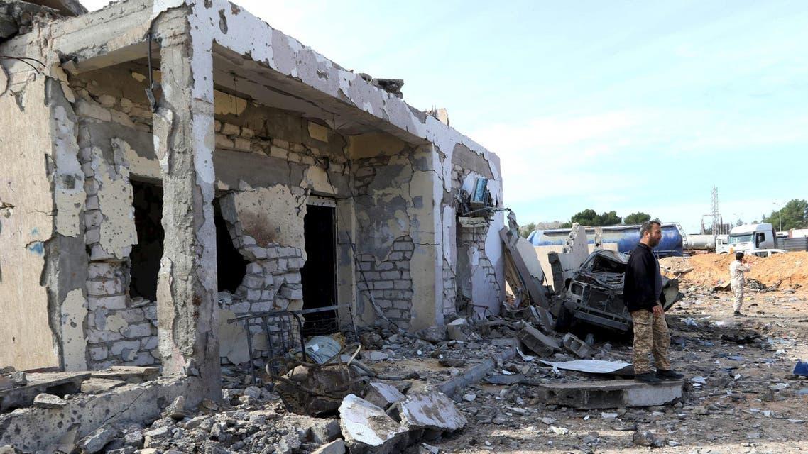 مشاهد من الدمار في ليبيا