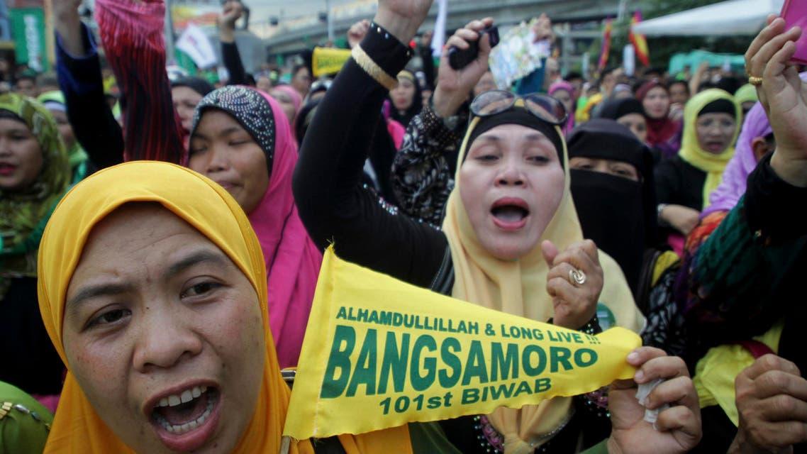 Muslim women rally (AP)