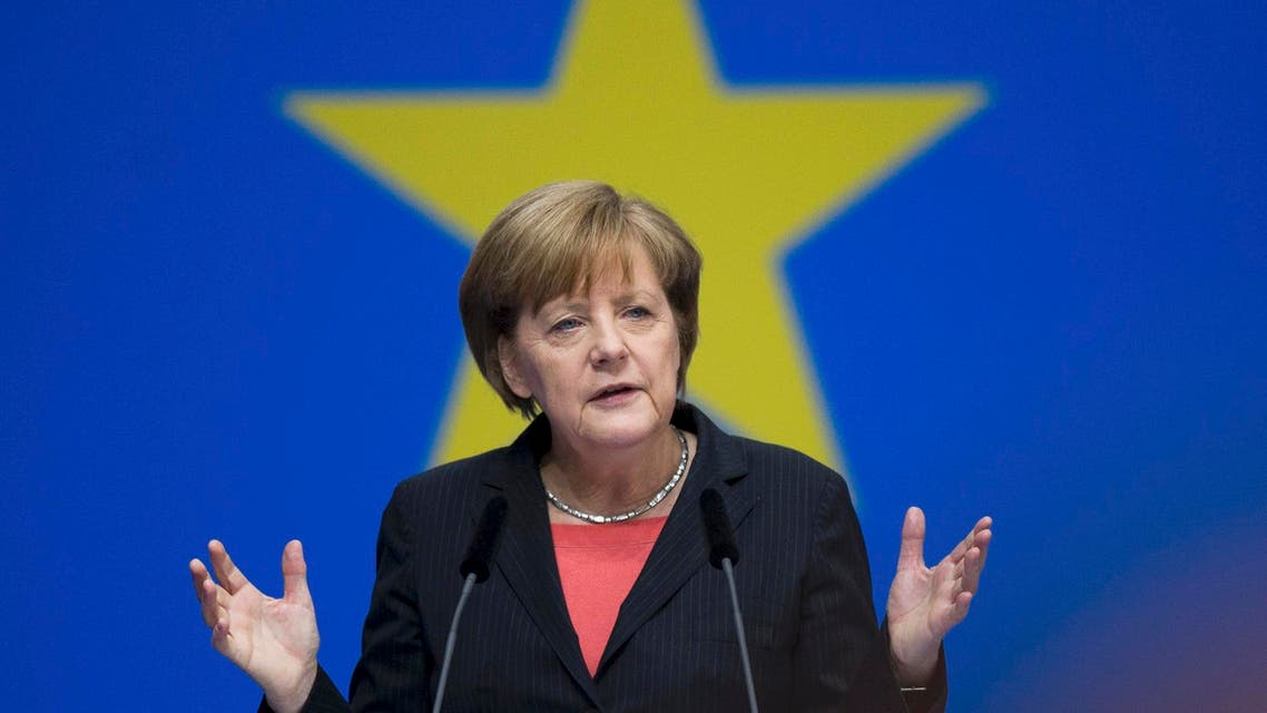 German Chancellor Angela Merkel, leader of the Christian Democratic Union (CDU), delivering a speech during the CDU congress in Berlin April 5, 2014 (File Photo: Reuters)