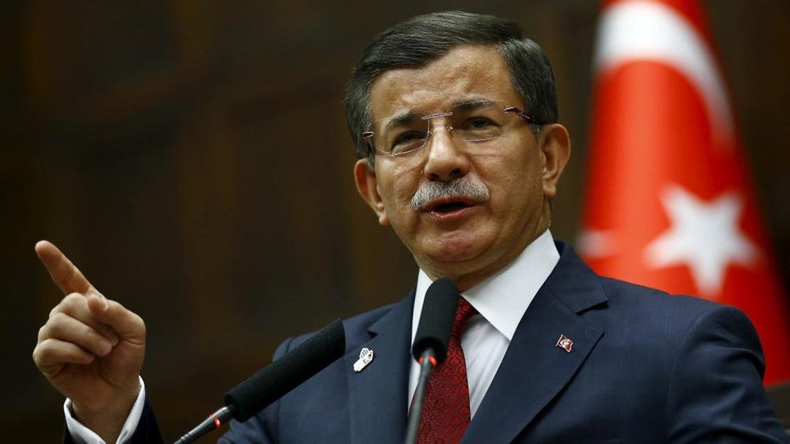 Turkey's Prime Minister Ahmet Davutoglu addresses members of parliament from his ruling AK Party (AKP) during a meeting at the Turkish parliament in Ankara, Turkey, November 25, 2015.  | Reuters