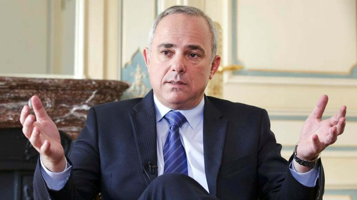 Israeli Intelligence Minister Yuval Steinitz gestures as he speaks during an interview with The Associated Press in Paris, Monday, March 23, 2015.  | AP