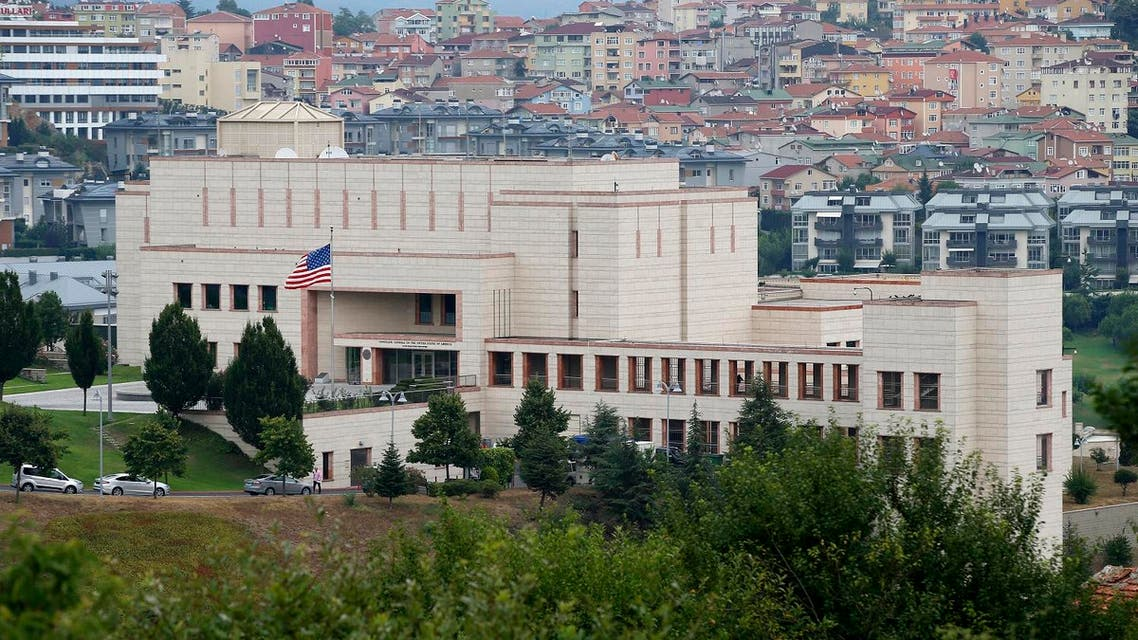 A view of the United States consulate building in Istanbul, Turkey, Tuesday, Aug. 11, 2015. (AP)