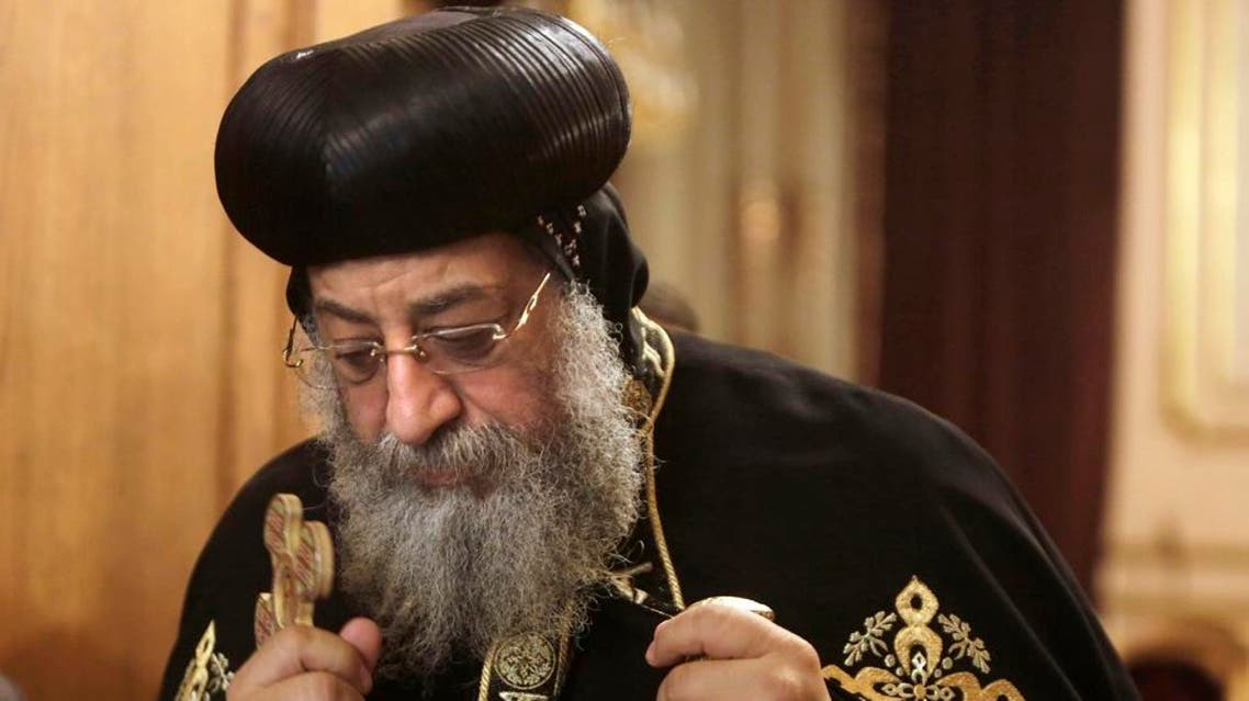Pope Tawadros II is the 118th pope of the Coptic Church of Egypt. (File photo: AP)