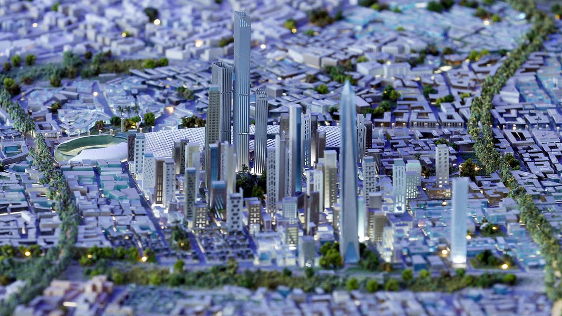 A model of a planned new capital for Egypt is displayed for investors during the final day of Egypt Economic Development Conference (EEDC) in Sharm el-Sheikh, in the South Sinai governorate, south of Cairo, in this March 28, 2015 file photo. (Reuters)