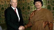 Blair says he urged Qaddafi to quit Libya in 2011