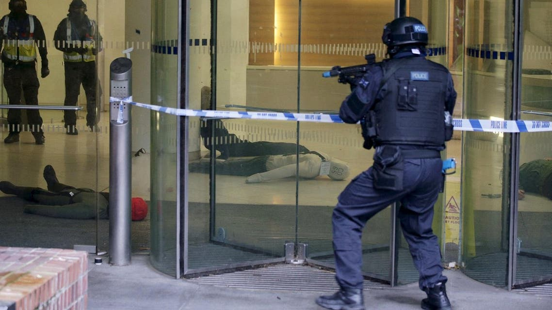 ARV officers participate in a police exercise simulating a millitant attack on a shopping centre during a Metropolitan Police training program for armed officers in London. (File photo: Reuters)