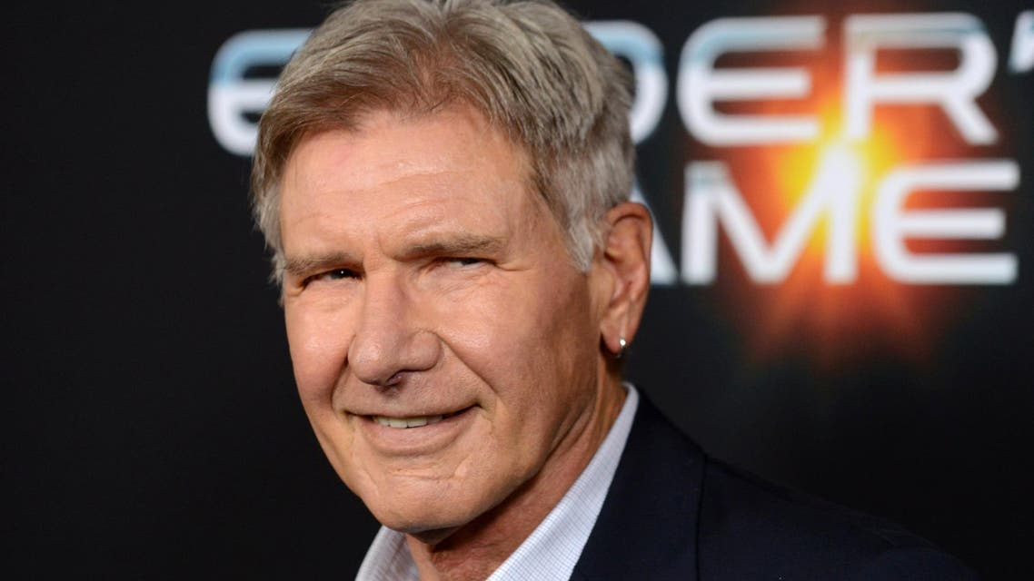 """This Oct. 28, 2013 file photo shows actor Harrison Ford at the LA Premiere of """"Ender's Game"""" in Los Angeles"""