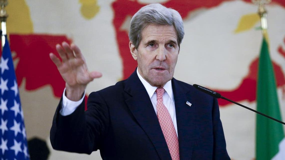 U.S. Secretary of State John Kerry speaks during a meeting in Rome, Italy, December 13, 2015. (Reuters)