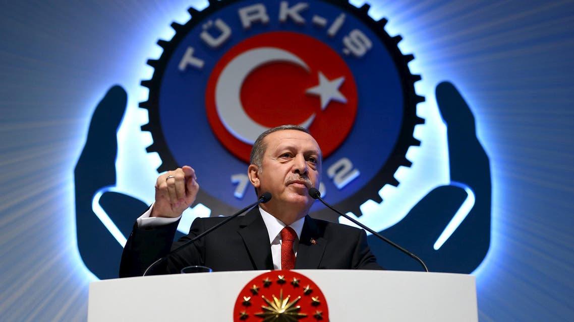 Turkey's President Tayyip Erdogan addresses the audience during a meeting in Ankara, Turkey, December 3, 2015. reuters