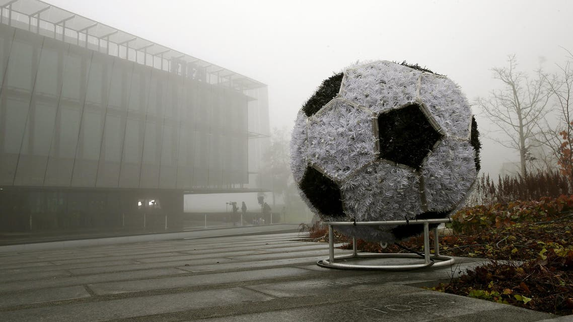 Fog covers FIFA's headquarters in Zurich, Switzerland December 3, 2015. REUTER