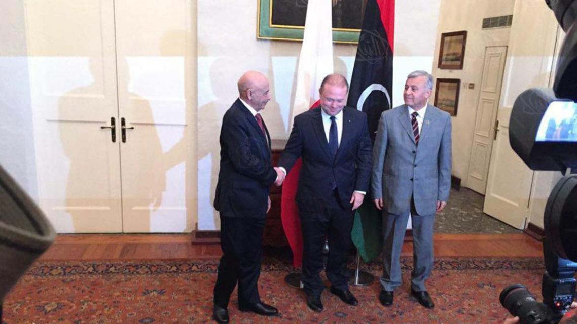 لقاء بين رئيس البرلمان ورئيس المؤتمر الوطني..ليبيا1