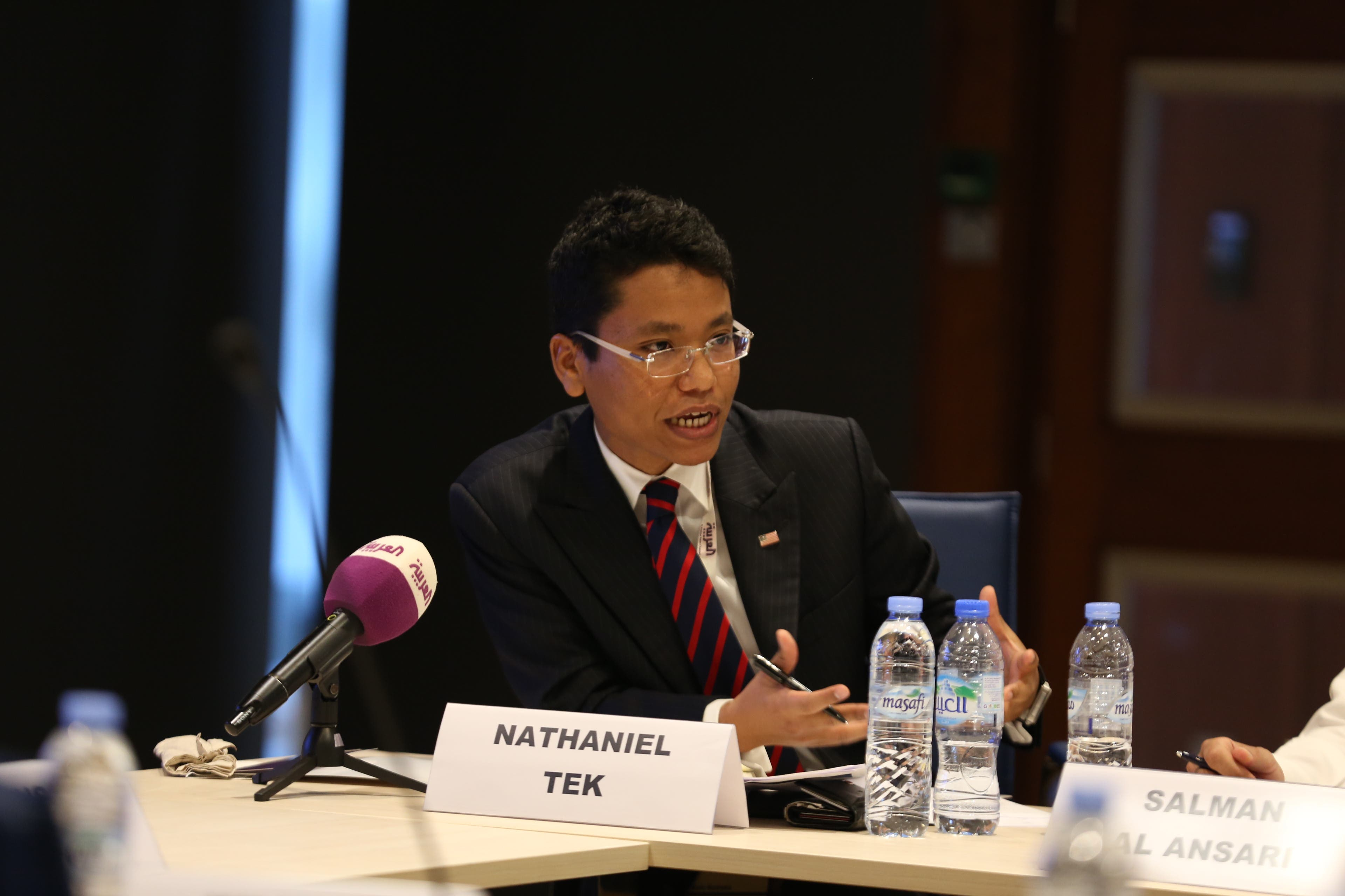 Nathaniel Tek, Regional Spokesperson – U.S. Government. (Al Arabiya News)