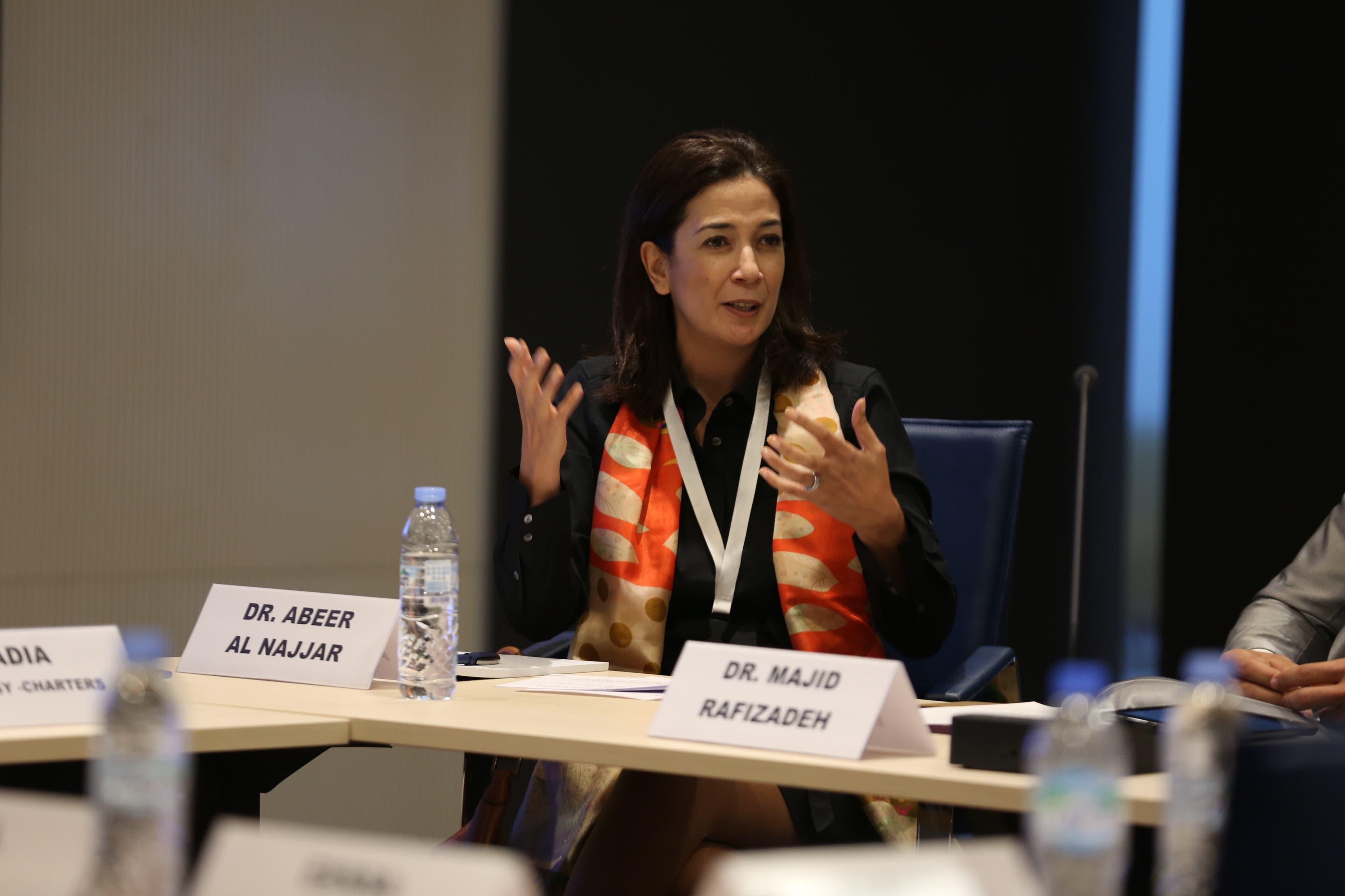 Abeer al-Najjar, a professor of media studies at the American University of Sharjah. (Al Arabiya News)
