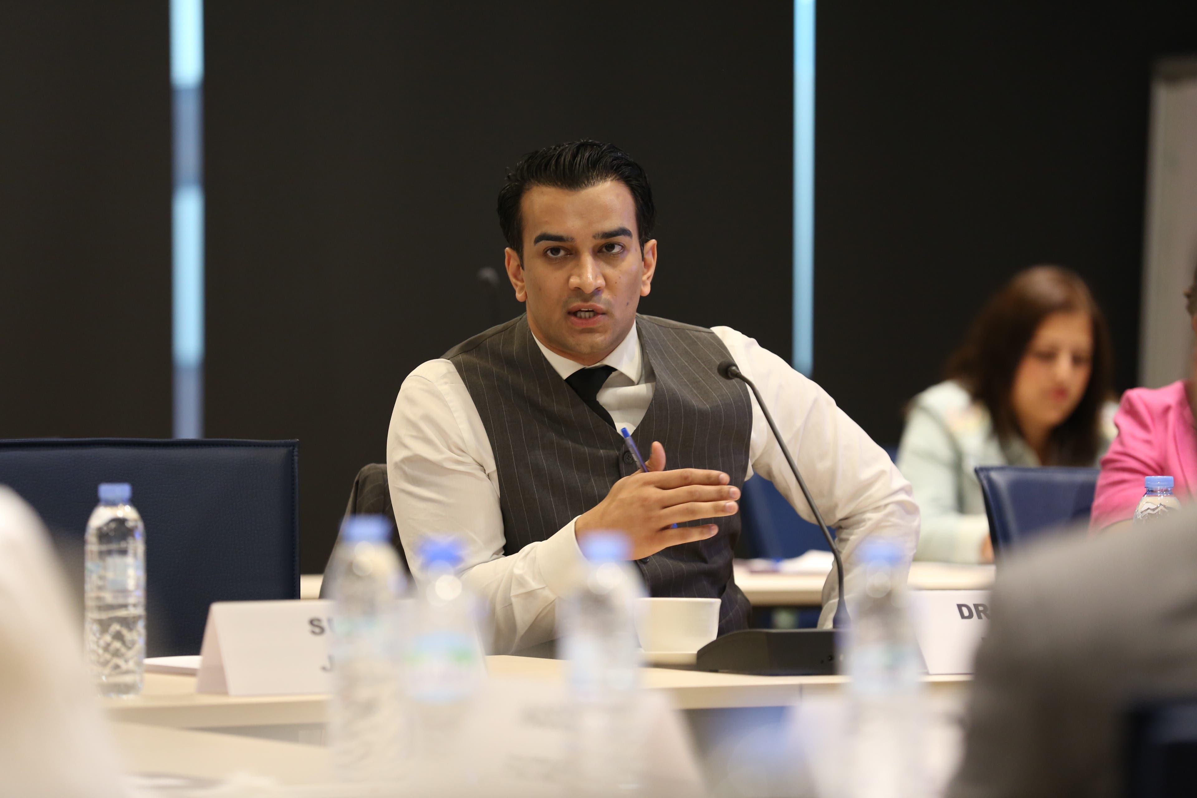 Azeem Ibrahim, a fellow at the University of Oxford's Mansfield College. (Al Arabiya News)