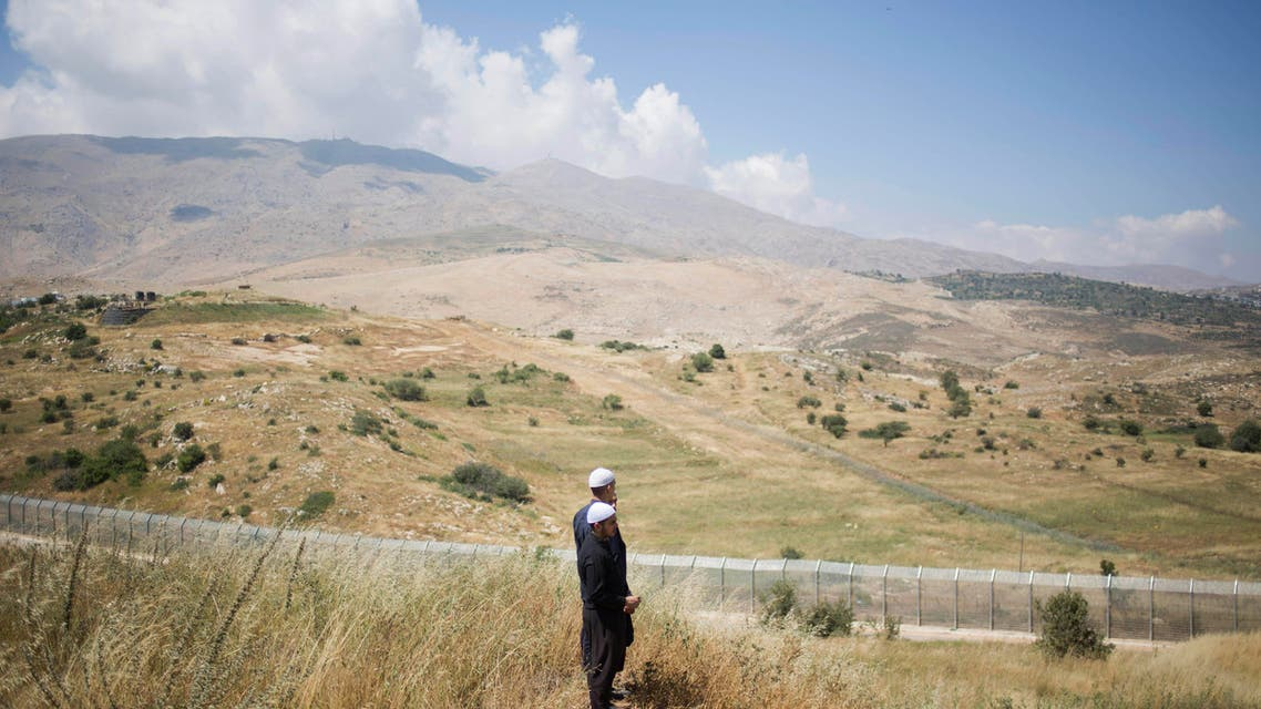 In this Tuesday, June 16, 2015 file photo, shows land near the Druze village of Khader in Syria, from the Israeli controlled Golan Heights. (AP)