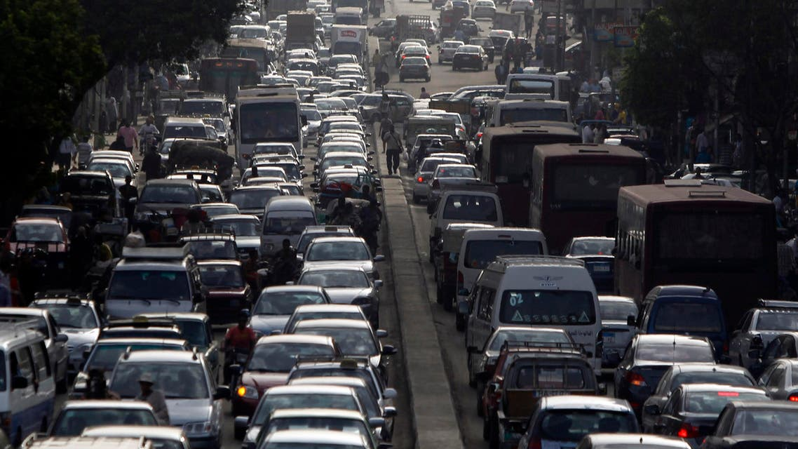 People in vehicles are seen caught in traffic in downtown Cairo May 29, 2013. (Reuters)